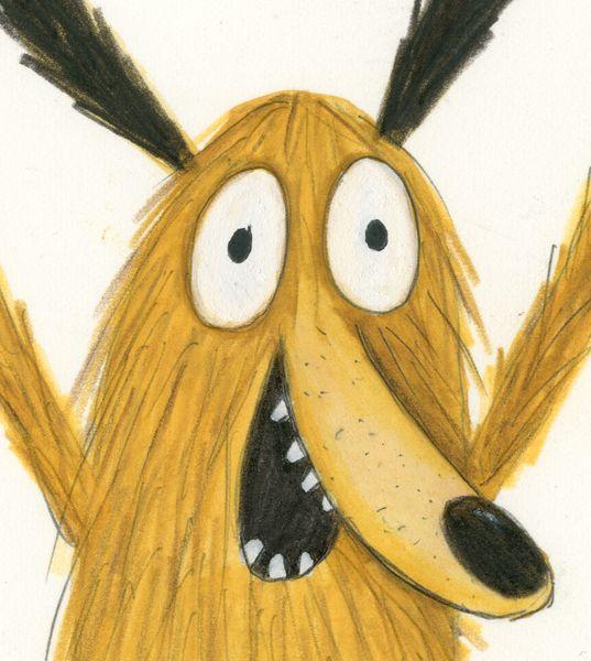 Kreukel karakter illustratie