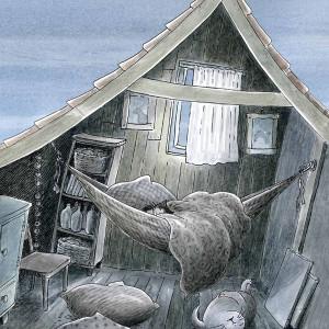 Zeehond kan niet slapen Illustratie Monica Maas