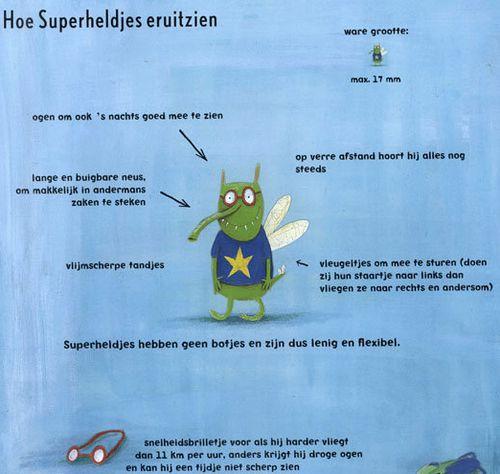 Pagina uit boek Superheldjes
