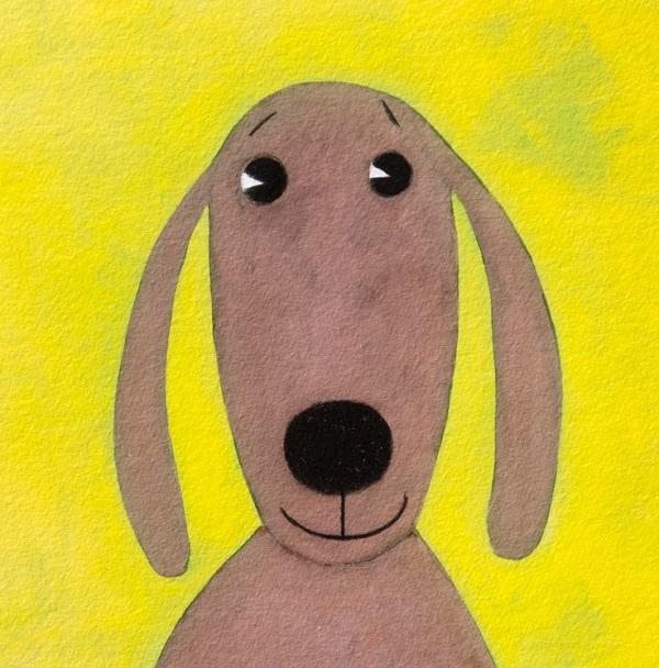 Artprint ik ben geen boek, ik ben een hond