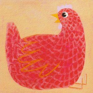Artprint ik ben geen boek, ik ben een kip