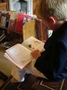 kind leest prentenboek