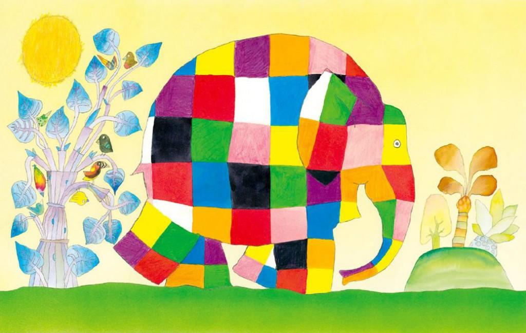 Illustratie uit Elmer (Mckee - van Goor 1989)