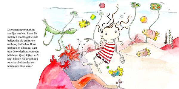 Illustratie uit Noa Tovervijver - Hanneke van der Meer