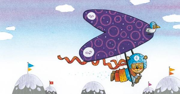 """Illustratie uit """" Beertje Vliegt"""", Clavis 2011"""