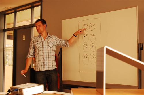 Frank geeft lezingen en workshops