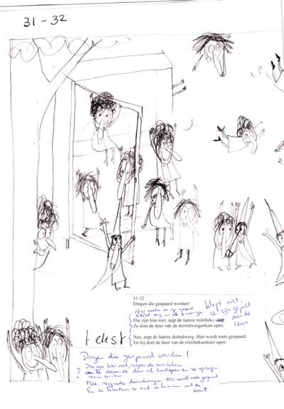 """De eerste schetsen en teksten van """"Miniheksen,"""