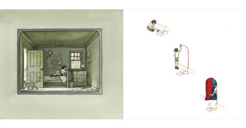 """illustratie uit """"Op Reis"""", Arron Becker, Brevier Uitgeverij 2014"""