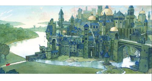 """illustratie uit """"Op Reis"""", Aaron Becker, Brevier Uitgeverij 2014"""