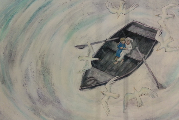 """Illustratie omslag """"Groter dan een droom"""", Marit Törnqvist, Querido, 2013"""