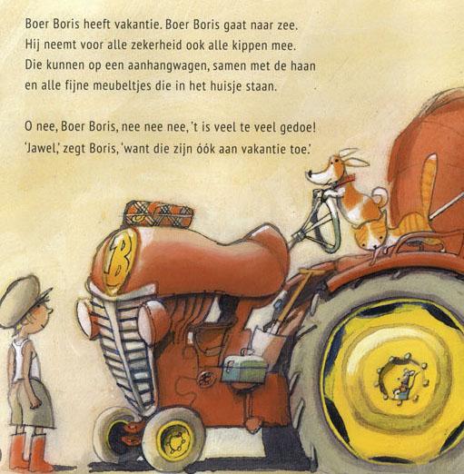 Pagina uit Boer Boris gaat naar Zee, Ted van Lieshout en Philip Hopman, Gottmer, 2013