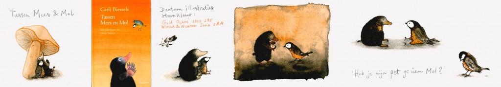 Illustraties uit Tussen Mees en Mol, Biessels, 2003, van Goor