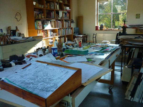 kijkje in het atelier van Guido van Genechten