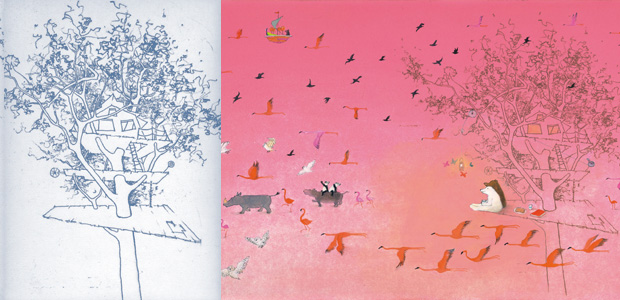 van ets naar illustratie, de boomhut, tolman, 2009, Lemniscaat