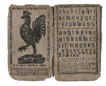 Voorbeeld van een hanenboekje