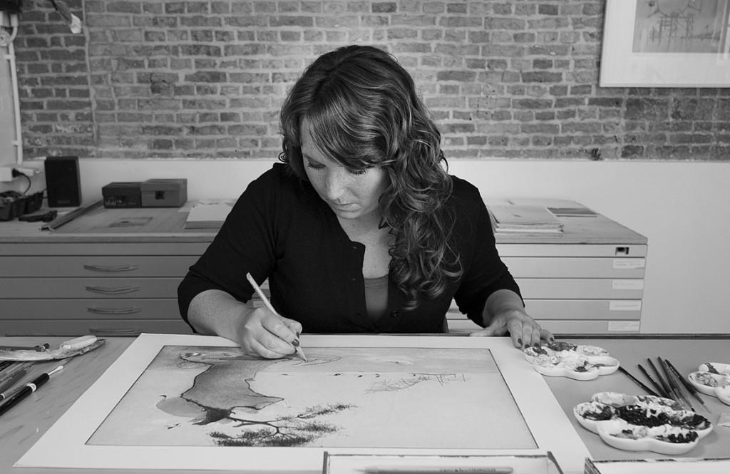 Marije Tolman aan het werk