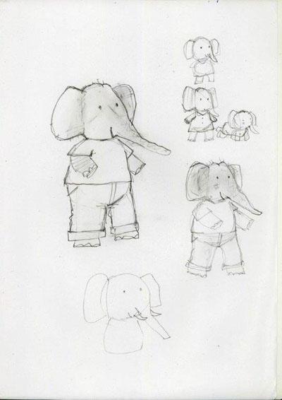 Een karakterschets van de olifant uit de Wiebelbillenboogie