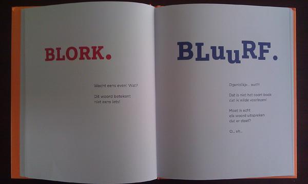 """2 pagina's uit """"Het boek zonder tekeningen"""""""