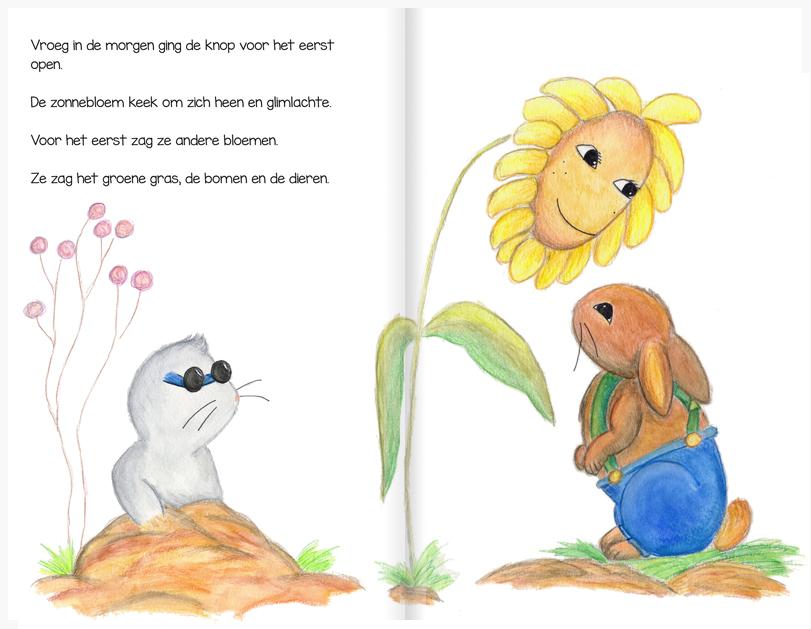 Pagina uit De Zonnebloem - Hanneke Frenken - Graviant - 2015