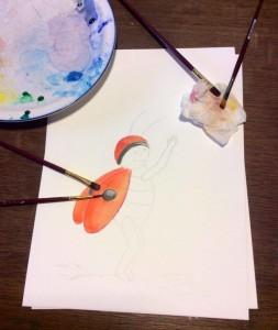 Werken met aquarelverf