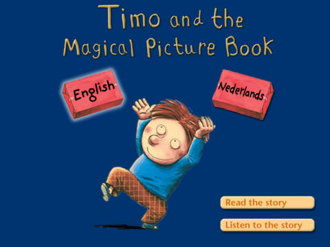 """de prentenboek app """"Timo en het toverboek"""""""