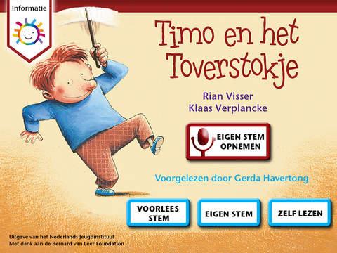 """de prentenboek app """"Timo en het toverstokje"""""""