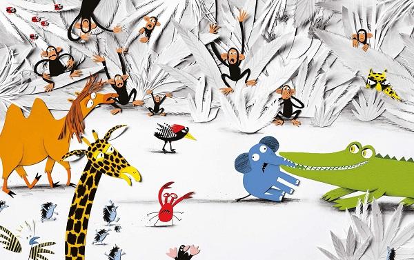 """Illustratie uit """"Bij de neus genomen"""", Loes Riphagen, De Fontein, 2015"""
