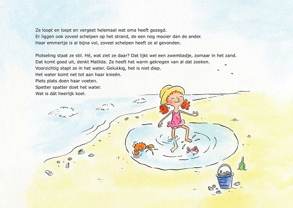 Pagina uit Matilda en Kleine Vis