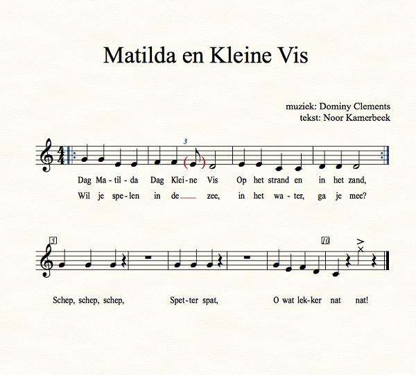 Liedje Matilda en Kleine Vis