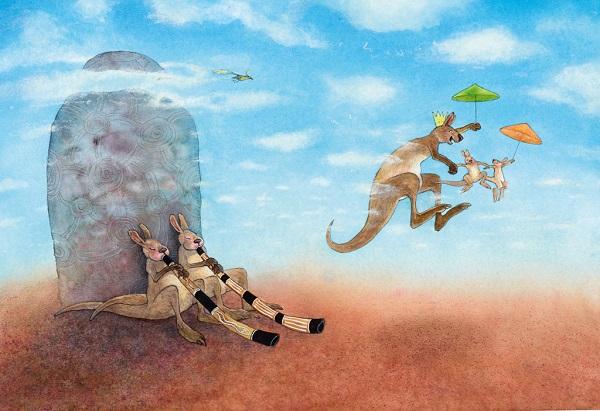 """Illustratie uit """"Opvrolijkvogeltje"""" van Ingrid en Dieter Schubert"""