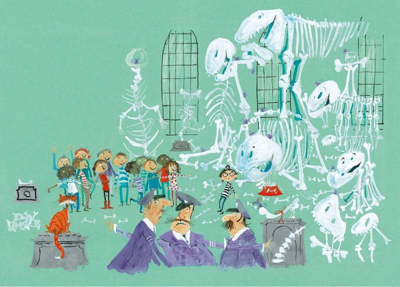 """Illustratie uit """"Joris puzzelt een dino"""", Harmen van Straaten"""