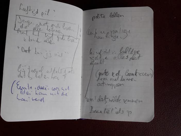 Notitieboekje Tjibbe Veldkamp voor Kom uit die kraan