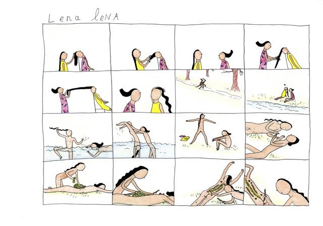 illustratie uit De Avonturen van Lena lena