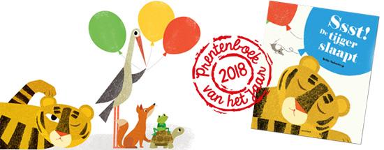 SSst! De tijger slaapt is verkozen als prentenboek van het jaar 2018