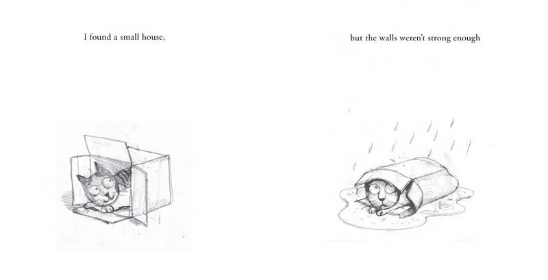 """Eerste schetsen voor het boek """"Een Huis voor Harry"""""""