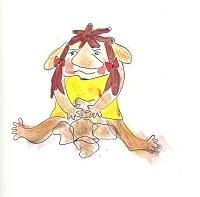 Tika schets trollen dansen niet