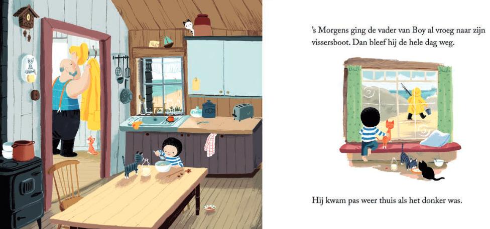 "Spread uit ""De kleine walvis"", Benji Davies, 2014, Luitingh-Sijthoff"