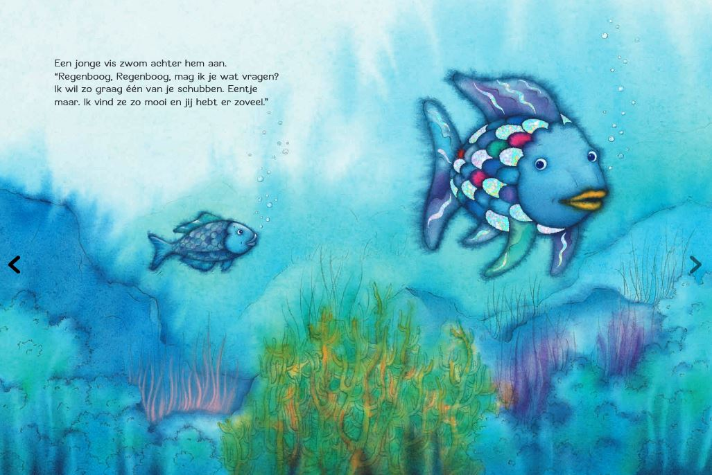 """Spread uit """"De mooiste vis van de zee"""", Marcus Pfister"""