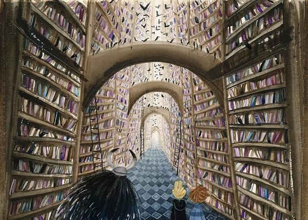 """Illustratie uit """"Gozert"""", Linde Faas, auteur Pieter Koolwijk, Lemniscaat, 2019"""