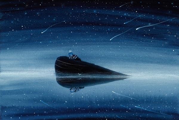 """Uiteindelijke illustratie voor """"De jongen en de walvis"""", Linde Faas, 2019, Lemniscaat"""