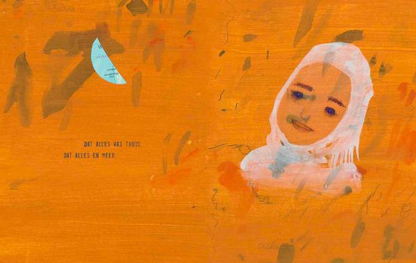 """Spread uit """"Mensen met koffers"""", Sjoerd Kuyper en illustrator Annemarie van Haeringen – Hoogland & Van Klaveren 2020"""